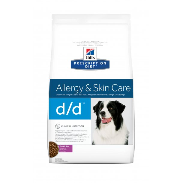 Prescription Diet d/d Derm Health And og Ris hundefoder