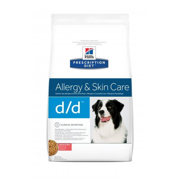 Prescription Diet d/d Derm Health Laks og Ris hundefoder