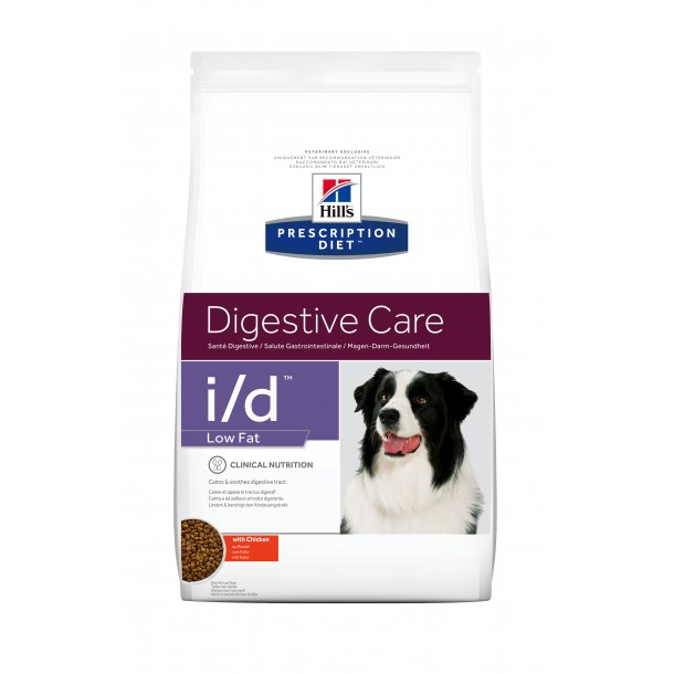 Prescription Diet i/d Low Fat Gastrointestinale Health hundefoder